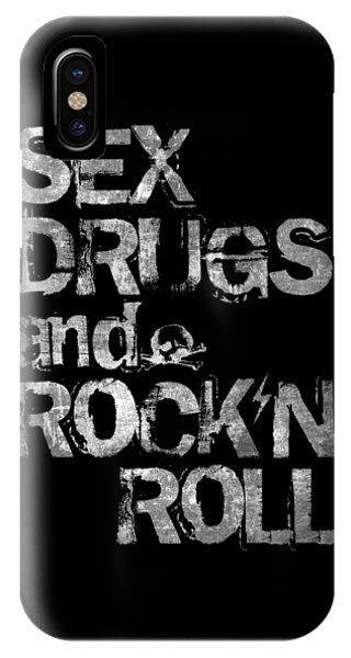 Music iPhone Case - Sex Drugs And Rock N Roll by Zapista