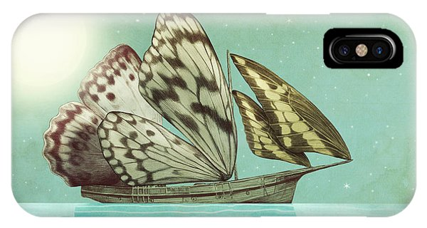 Insect iPhone Case - The Voyage by Eric Fan