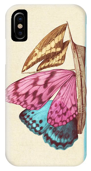 Nautical iPhone Case - Butterfly Ship by Eric Fan
