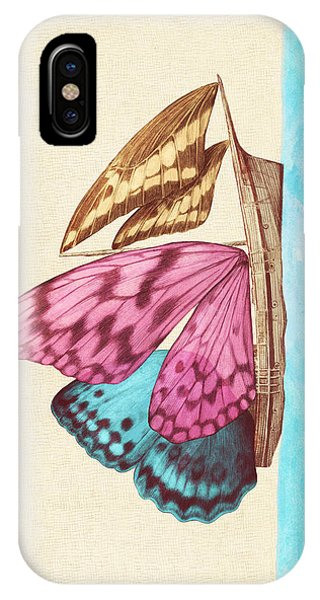 Insects iPhone Case - Butterfly Ship by Eric Fan
