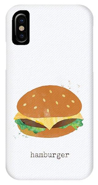 Kitchen iPhone Case - Hamburger by Linda Woods