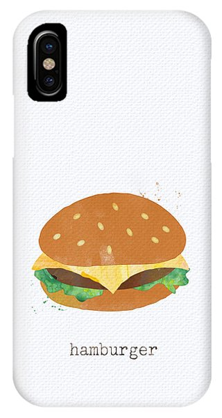 Summer iPhone X Case - Hamburger by Linda Woods