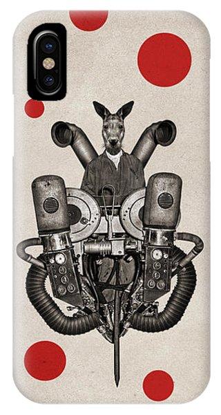 Kangaroo iPhone Case - Animal2 by Francois Brumas