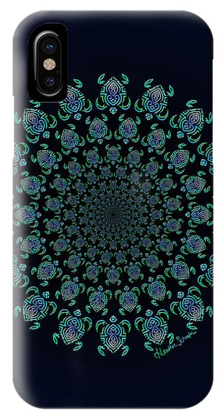 Tribal Turtle Tunnel IPhone Case