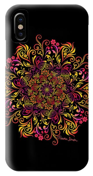Fire Swirl Flower IPhone Case