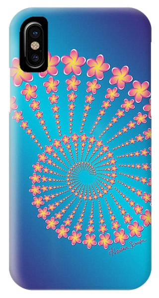 Denise's Frangipani  Spiral Shell IPhone Case