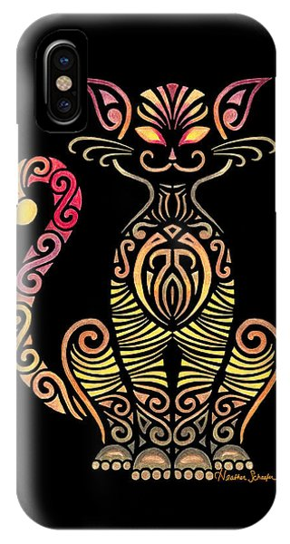 Tribal Cat IPhone Case