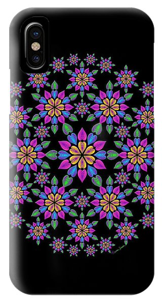 Wreath Of Heart Flowers IPhone Case