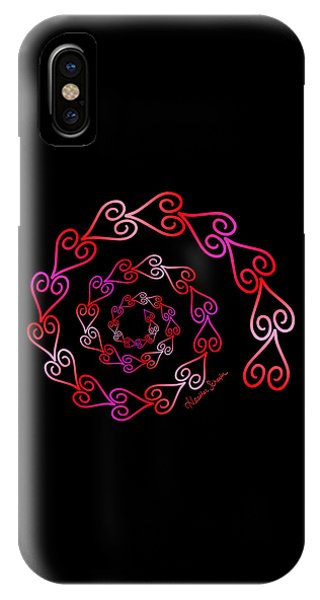 Spiral Of Hearts IPhone Case