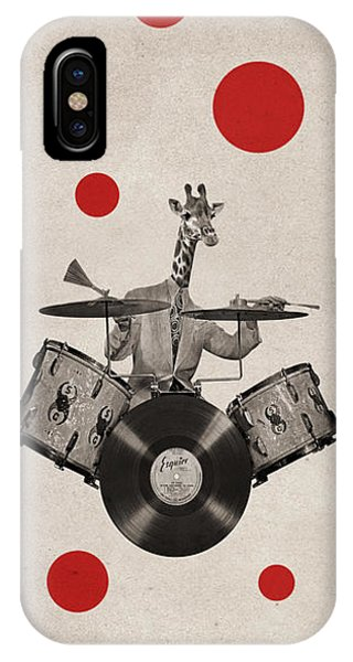 Drum iPhone Case - Animal19 by Francois Brumas