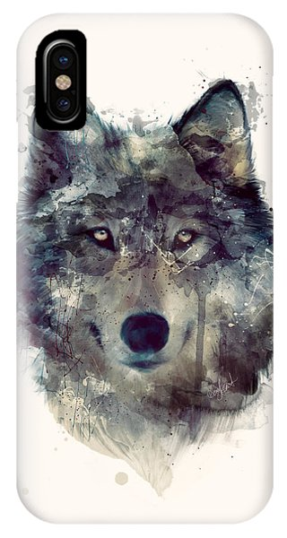 Wolf iPhone Case - Wolf // Persevere by Amy Hamilton