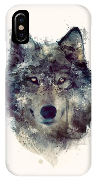 Wildlife iPhone Case - Wolf // Persevere by Amy Hamilton