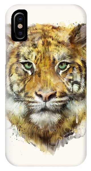 Tiger iPhone Case - Tiger // Strength by Amy Hamilton