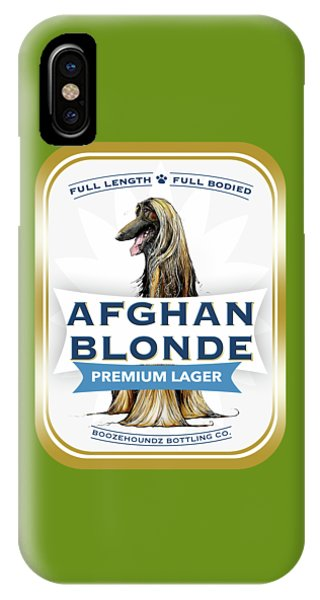 Caricature iPhone Case - Afghan Blonde Premium Lager by John LaFree