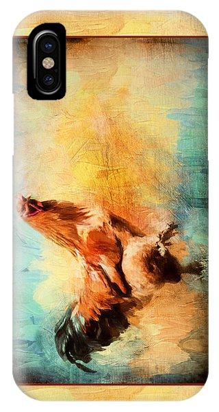 Buff Brahma Mrs. Darwin's Rooster  IPhone Case