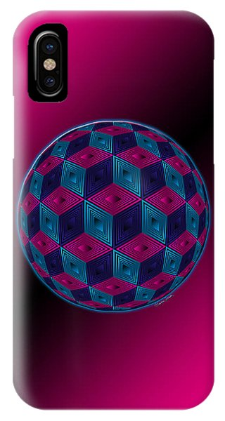 Spherized Pink Purple Blue And Black Hexa IPhone Case