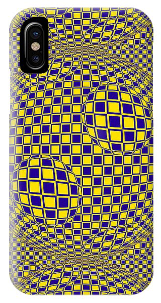 Purple And Yellow Sphere Untitled IPhone Case