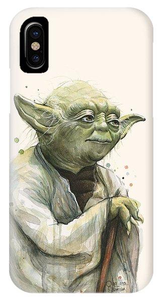 Nerd iPhone Case - Yoda Portrait by Olga Shvartsur