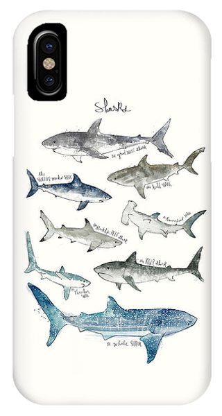 Whales iPhone Case - Sharks by Amy Hamilton