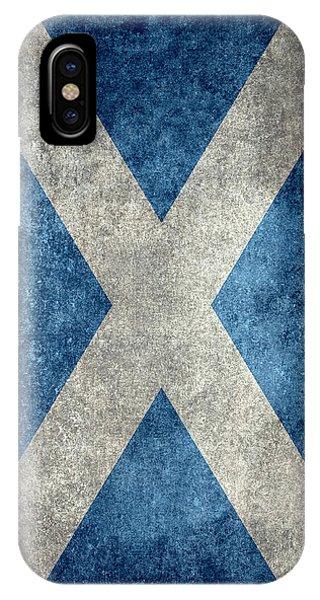 National Flag Of Scotland Vintage Version IPhone Case