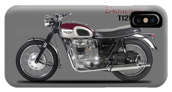 Transportation iPhone Case - Triumph Bonneville T120 1968 by Mark Rogan