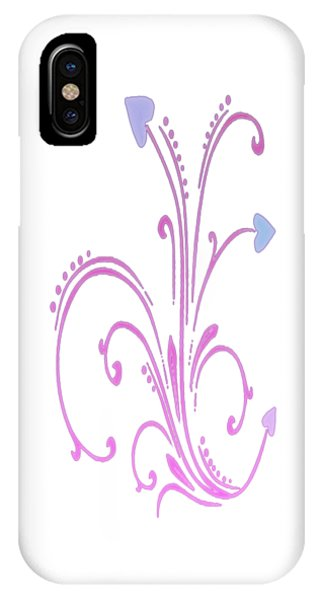 Blooming Pastel Hearts On A Vine IPhone Case