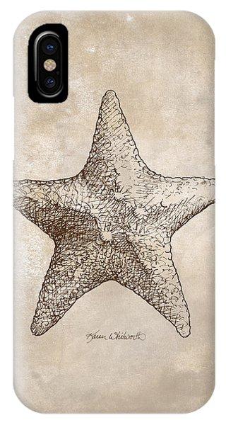 Distressed Antique Nautical Starfish IPhone Case