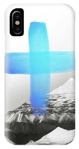 Blue And White iPhone Case - Mountains by Amy Hamilton