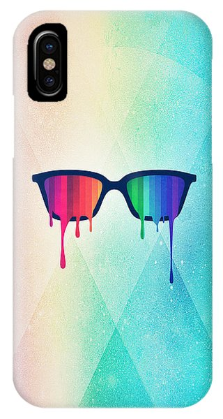 Cool iPhone Case - Love Wins Rainbow - Spectrum Pride Hipster Nerd Glasses by Philipp Rietz