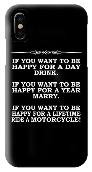 Harley iPhone Case - Happy For A Day by Mark Rogan