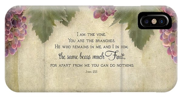 Vino iPhone Case - Tuscan Vineyard - Rustic Wood Fence Scripture by Audrey Jeanne Roberts