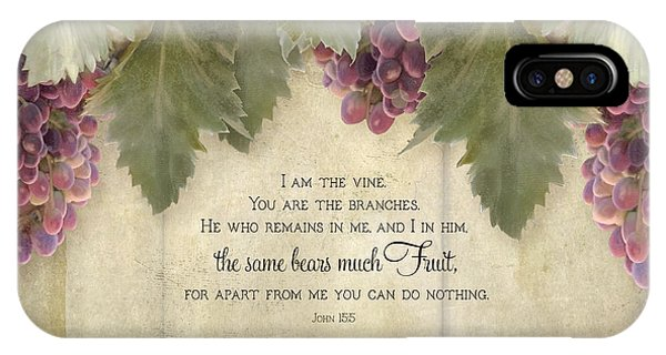 Tuscan Vineyard - Rustic Wood Fence Scripture IPhone Case