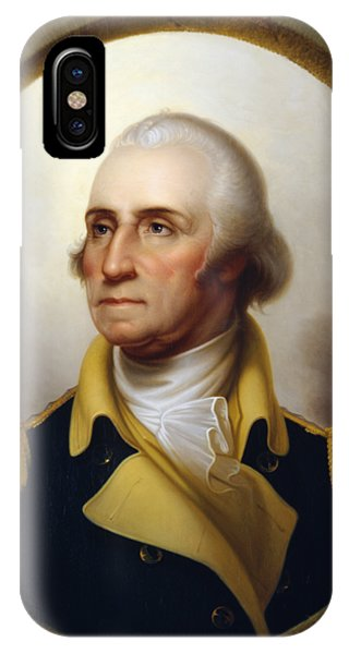 Army iPhone Case - General Washington - Porthole Portrait  by War Is Hell Store