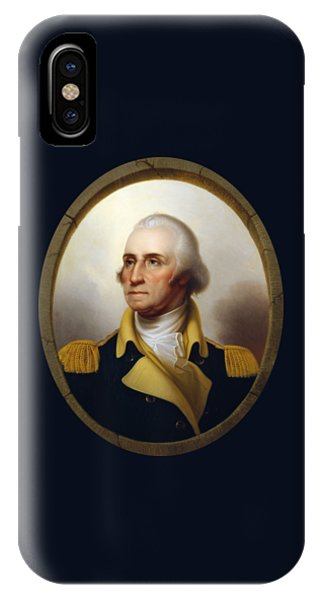 George Washington iPhone Case - General Washington - Porthole Portrait  by War Is Hell Store