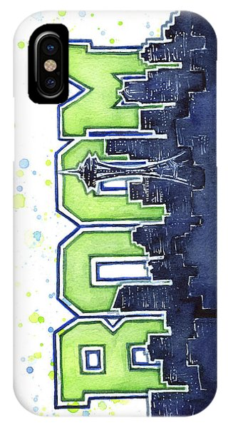 Hawk iPhone Case - Seattle 12th Man Legion Of Boom Painting by Olga Shvartsur