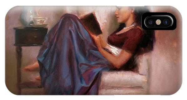 Jaidyn Reading A Book 2 - Portrait Of Woman IPhone Case