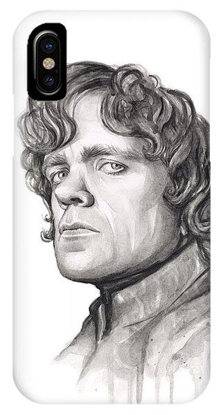 Nerd iPhone Case - Tyrion Lannister by Olga Shvartsur