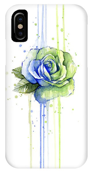 Hawk iPhone Case - Seattle 12th Man Seahawks Watercolor Rose by Olga Shvartsur