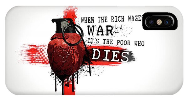 Hearts iPhone Case - When The Rich Wages War... by Nicklas Gustafsson