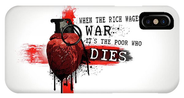 Poor iPhone Case - When The Rich Wages War... by Nicklas Gustafsson