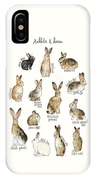 Fauna iPhone Case - Rabbits And Hares by Amy Hamilton