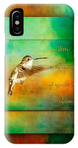 Hummingbird Hover IPhone Case