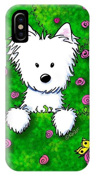 Westie In Roses IPhone Case