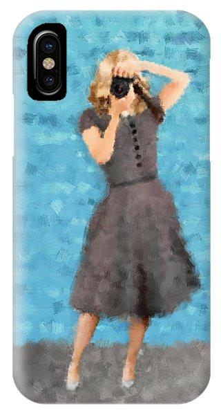 IPhone Case featuring the digital art Natalie by Nancy Levan