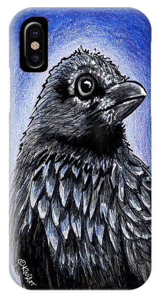 Raven iPhone Case - Raven by Kim Niles