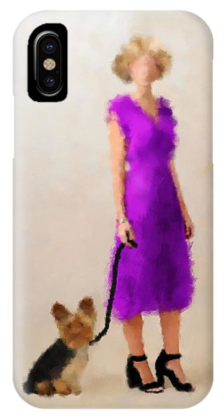 IPhone Case featuring the digital art Christina by Nancy Levan