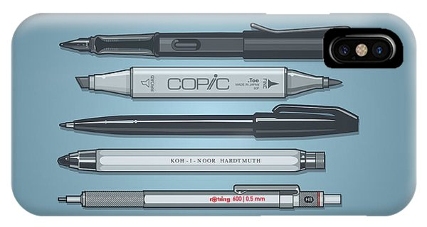Technical iPhone Case - Pro Pens by Monkey Crisis On Mars