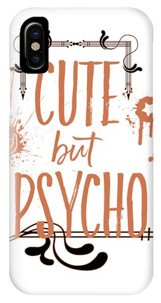 Love iPhone Case - Cute But Psycho by Melanie Viola