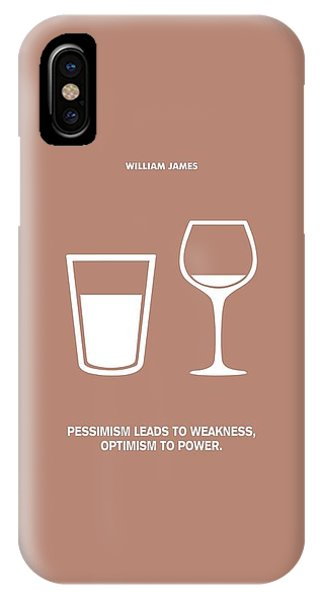 Positive iPhone Case - Optimism To Power William James Quotes Poster by Lab No 4 The Quotography Department