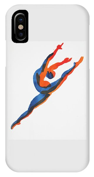 Ballet Dancer 2 Leaping IPhone Case